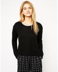 Ganni Striped Sweater - Lyst