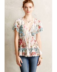 Zimmermann Tarra Peasant Top - Lyst
