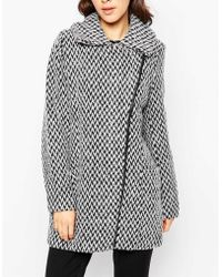Ichi - Wool Mix Coat - Lyst