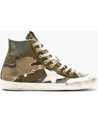 Golden Goose Deluxe Brand Green Camouflage Francy High_top Sneakers - Lyst