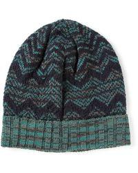 Missoni Zig Zag Crochet Knit Beanie Hat - Lyst