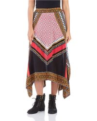 Free People Asymmetrical Patterned Skirt - Lyst