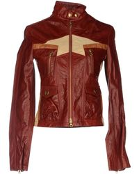 Fay Leather Outerwear - Lyst