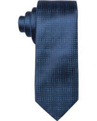 Hugo Boss Hugo By Tonal Blue Check Skinny Tie - Lyst