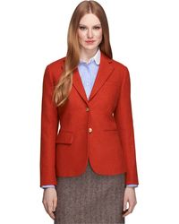 Brooks Brothers Wool Two-Button Jacket - Lyst