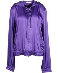 Versace Jacket purple - Lyst