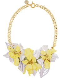 Matthew Williamson Gold-tone Perspex and Crystal Necklace - Lyst