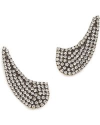 Auden - Calypso Pave Clip On Earrings - Lyst