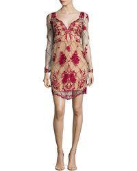 Notte by Marchesa | Long-sleeve Embroidered Cocktail Dress | Lyst