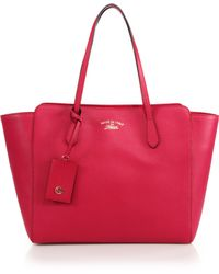 Gucci Swing Large Leather Tote - Lyst