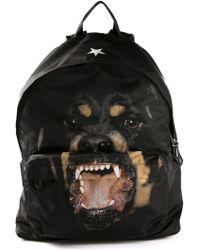 Givenchy Black Rottweiler Backpack - Lyst