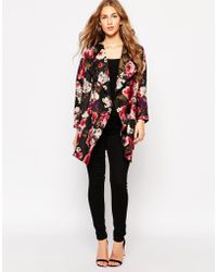 Girls On Film - Oversized Kimono Top In Floral - Lyst