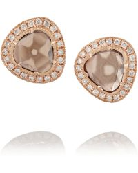 Brooke Gregson 18karat Rose Gold Diamond Earrings - Lyst