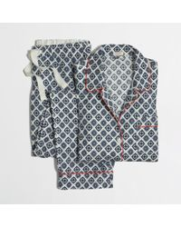 J.Crew Factory Printed Flannel Pajama Set - Lyst