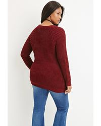 Lyst Forever 21 Plus Size Chunky Knit Sweater In Purple