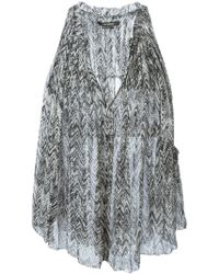 Isabel Marant Draped Top - Lyst