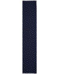 Richard James - Navy Inca Motif Cashmere And Silk-blend Scarf - Lyst