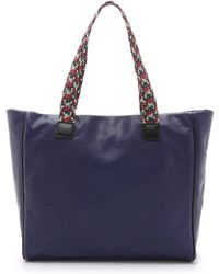 M Missoni - Embroidered Handle Tote - Violet - Lyst