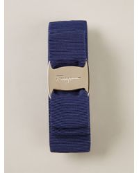 Ferragamo 'Vara' Bow Hair Clip blue - Lyst