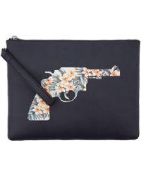 Reece Hudson - Black Bowery Floral Gun Pochette - Lyst