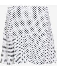 Joseph Dot Print Flared Mini Skirt - Lyst