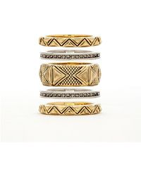 House Of Harlow Mesa Stack Rings - Lyst