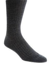 Barneys New York Ribbed Over-The-Calf Dress Sock - Lyst