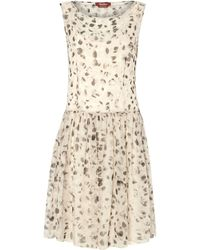 Max Mara Studio Animal Spot Print Drop Waist Sleeveless Dress - Lyst