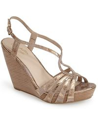 Seychelles 'Brunette' Leather Wedge Sandal - Lyst