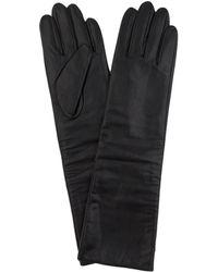 AKIRA - Long Faux Leather Gloves - Black - *final Sale* - Lyst