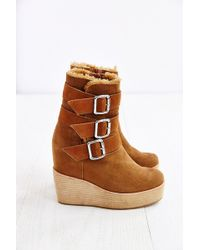 Jeffrey Campbell Hanlin Wedge Motto Boot - Lyst