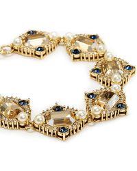 St. John - 'ornate' Swarovski Crystal Pearl Pavé Bracelet - Lyst