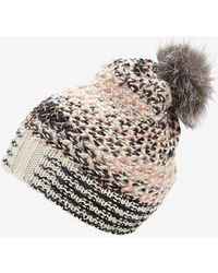 Missoni Fur Pom Knit Hat - Lyst
