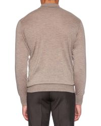 Richard James - Long-sleeved Fine-knit Cashmere Polo Shirt - Lyst