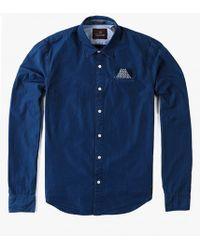 Scotch & Soda Poplin Shirt blue - Lyst