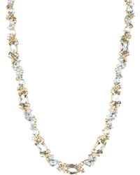 Alexis Bittar Sandy Beach Marquis Cluster Riviera Necklace In 18K Gold - Lyst