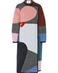 Issa Clemence Patterned Wool and Cashmere-Blend Coat - Lyst