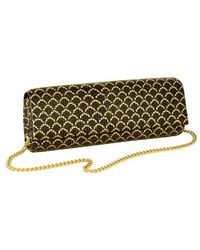 Whiting & Davis | 'scales' Snake Print Metal Mesh Clutch | Lyst