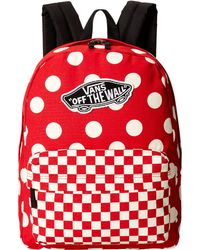 Vans Realm Backpack red - Lyst