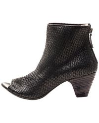 Marsell Woven Leather Open Toe Boot - Lyst