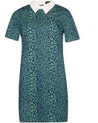 Pixie Market Fierce Denim Peter Pan Collar Dress - Lyst