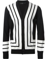 Alexander McQueen Striped Knit Cardigan - Lyst