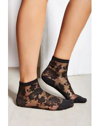 Urban Outfitters Patterned Sheer Ankle Sock - Lyst