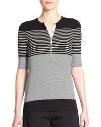 Theory Donkel Striped Top black - Lyst