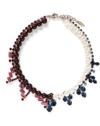 Joomi Lim - Crystal Faux Pearl Double Strand Necklace - Lyst