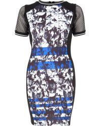 River Island Black Graphic Print Bodycon Dress - Lyst