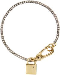 Marc By Marc Jacobs - Lost And Found Locked Up Silver Tone Bracelet - Lyst