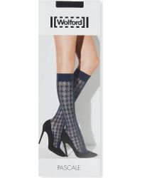 Wolford Pascale Knee-high Tights - Lyst