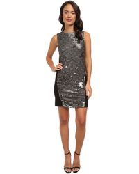 DKNY Textured Sequins W Ponte Back Dress - Lyst