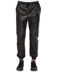 Vince Leather Jogger Pants - Lyst